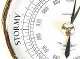 Stormy weather barometer face