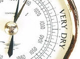Very dry weather climate barometer face