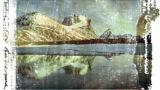 slide of Melting ice walls lavender sky