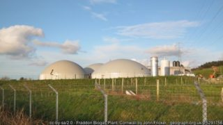 Image features a biogas plant which can help fight climate change.