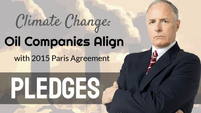 "Featured image illustrates the article about ""climate change oil companies""."