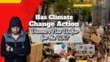 "Text: ""Climate change action new UK unifier?""."